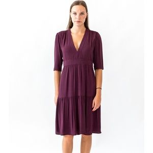 See U Soon wine dress from Anthropologie NWT